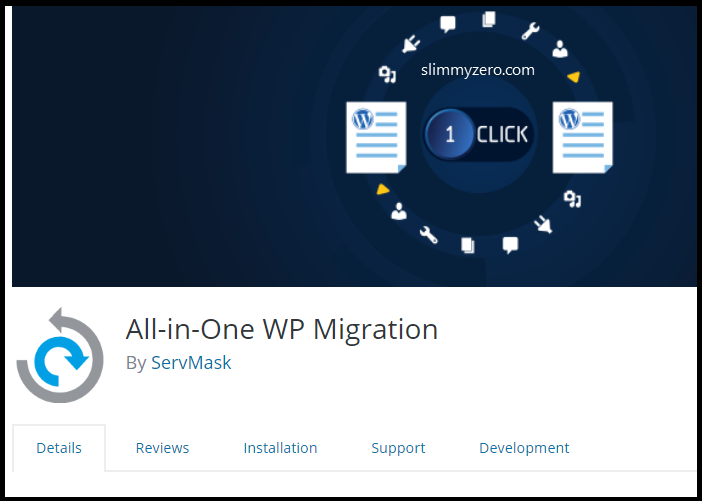 How to use All in One WP Migration to Export and import WordPress site